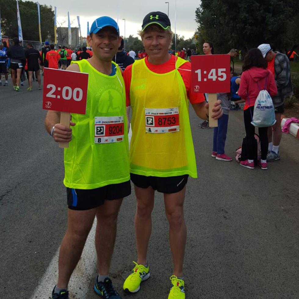 דניאל כהן (משמאל) יחד עם חברו לקבוצת הפייסרים, שמואל שנטל. צילום: אוריה שנטל ( Marcelo Saraiva) ( Marcelo Saraiva)