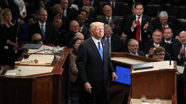 """טראמפ. """"מדינה רחומה, אבל כנשיא המחויבות הגדולה שלי היא לילדים של ארה""""ב"""" (צילום: AFP) (צילום: AFP)"""