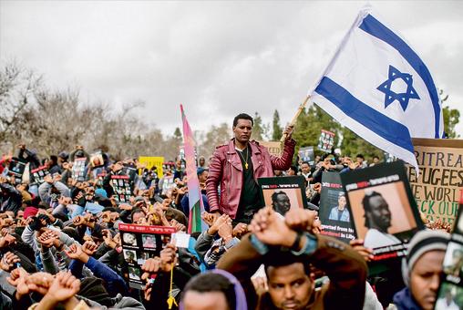 הפגנה נגד גירוש הפליטים