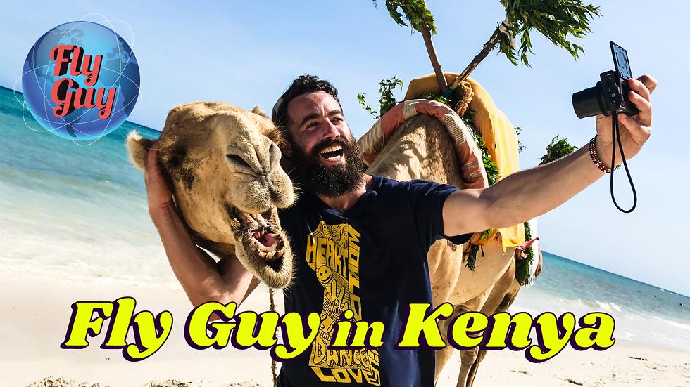"""מאיר קיי כ""""FLY GUY"""" בקניה (צילום: בועז ארד, FlyGuyShow.com)"""