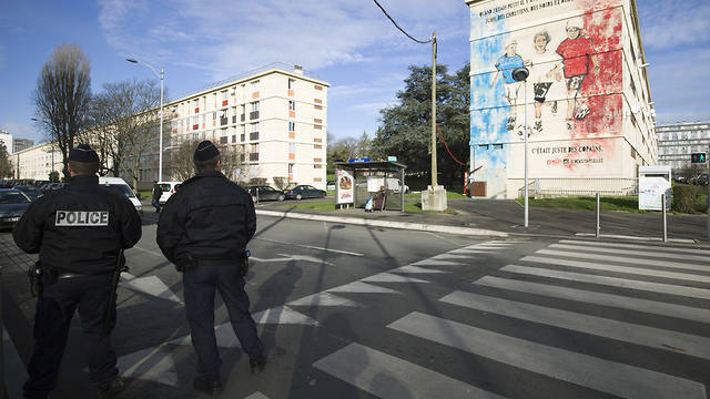 French police in Sarcelles, where the Jewish boy was attacked (Photo: AFP)