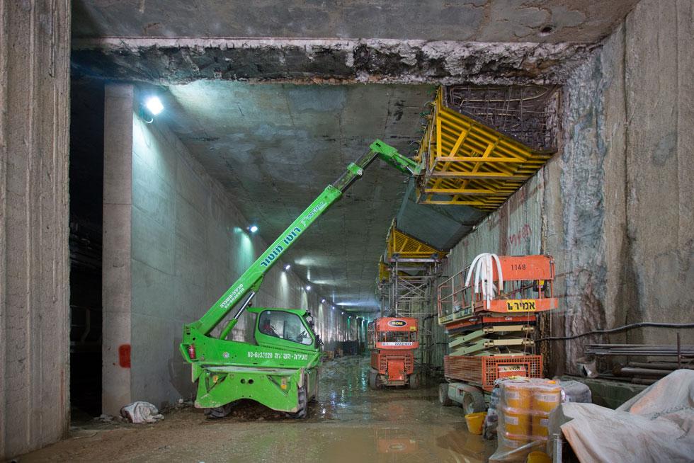 כשליש מהמנהרות כבר נחפרו, וכל היתר אמורים להיות מושלמים עד סוף שנה זו. תאריך היעד הוא עדיין אוקטובר 2021 (צילום: דור נבו)