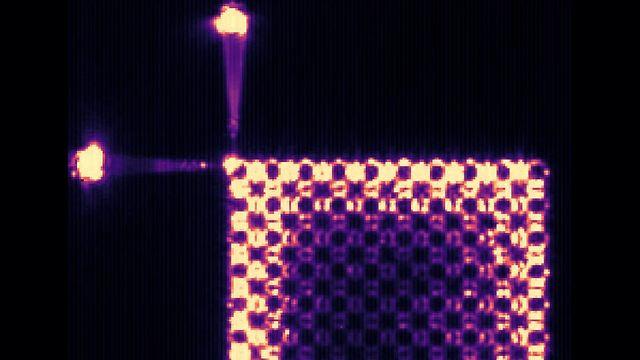תמונת-על של תצורת האור בלייזר המבודד הטופולוגי (צילום: דוברות הטכניון) (צילום: דוברות הטכניון)
