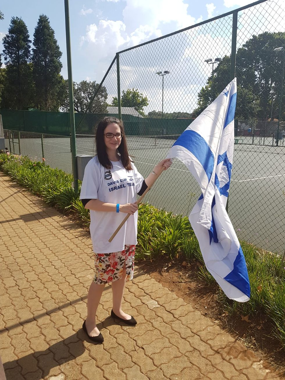 Deputy Ambassador Black defiantly waved the Israeli flag