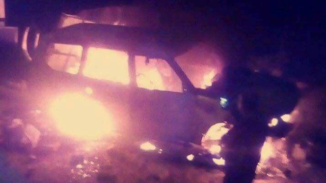 Israeli's car set ablaze in Abu Dis