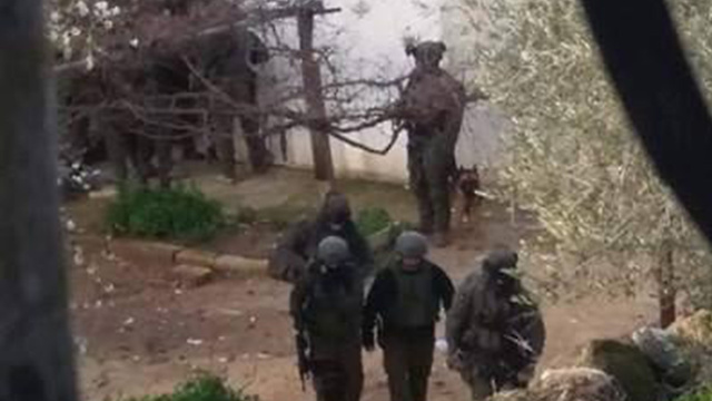 Israeli forces operating in Burqin