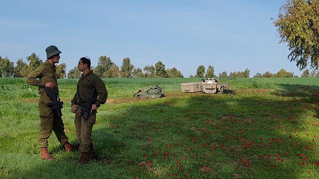 """מערכת צבע אדום שנפרסה ב""""דרום אדום"""" בצל ירי הרקטה לעוטף (צילום: רועי עידן) (צילום: רועי עידן)"""