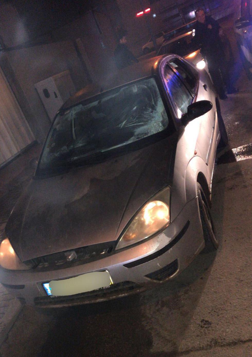 הרכב שגנבו הנערים (צילום: דוברות המשטרה) (צילום: דוברות המשטרה)