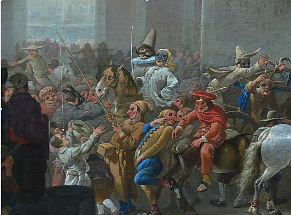 הקרנבל ברומא, 1650. התעללו ביהודים למטרות שעשוע ()
