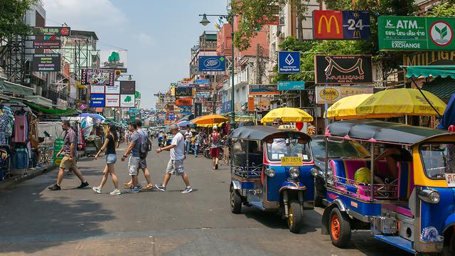 רחוב הקוואסן, בנגקוק (צילום: שאטרסטוק) (צילום: שאטרסטוק)