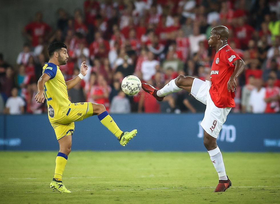 היריבות הכי גדולה כיום בכדורגל הישראלי. טוני ווקאמה מול אבי ריקן (צילום: עוז מועלם) (צילום: עוז מועלם)