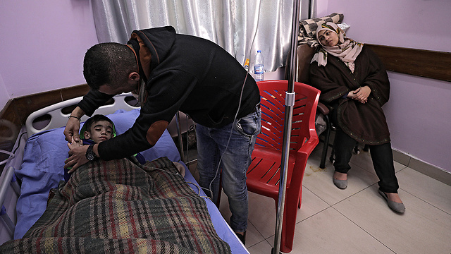 Child being treated for cancer at Gaza hospital (Photo: EPA)