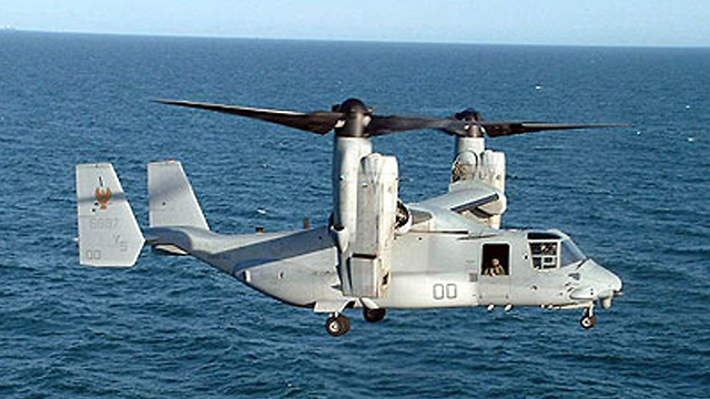 Boeing V-22 Osprey tiltrotor aircraft. Israel will likely buy several units