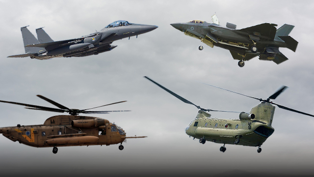 Chinook, bottom right; Sikorsky, left (Photo: Getty Images)