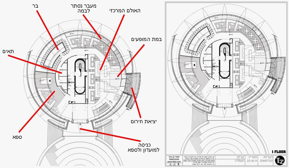 כך נראית התוכנית שהוכנה למועדון הפוסיקט (באדיבות תמיר בן ציון אדריכלות פנים)