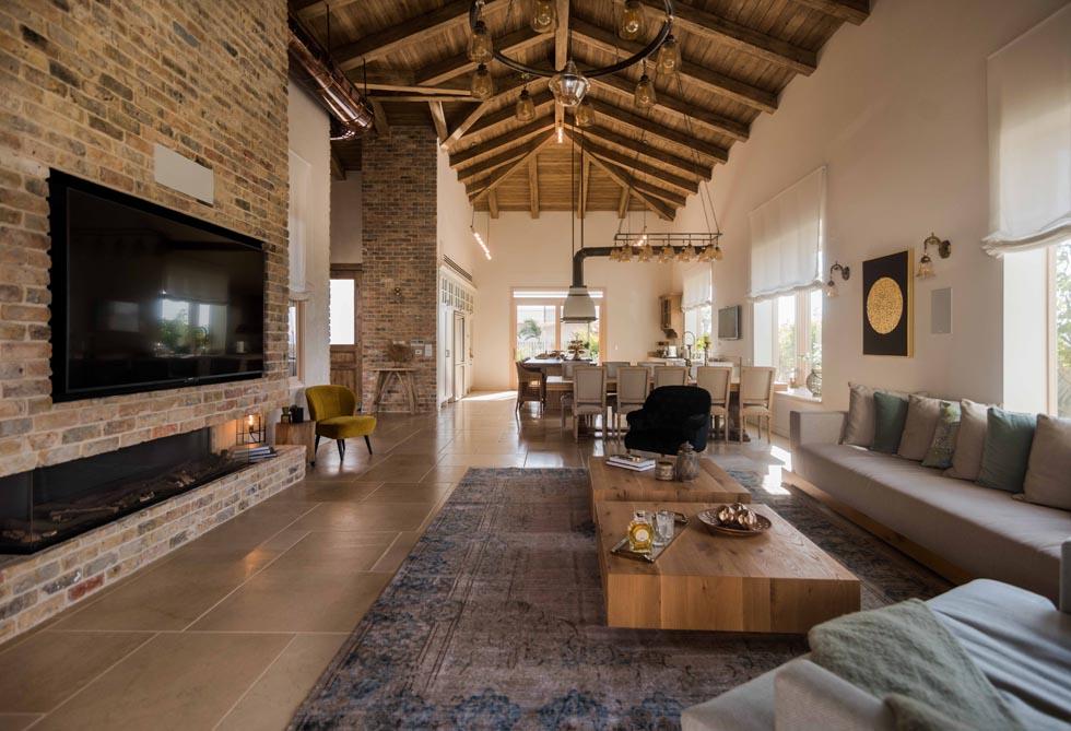 מבט מהסלון לכיוון המטבח (צילום: גלעד רדט)