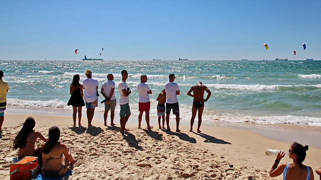 חוף הקשתות, אשדוד (צילום: בני משי) (צילום: בני משי)
