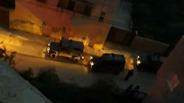 Israeli forces operating in Yamun overnight