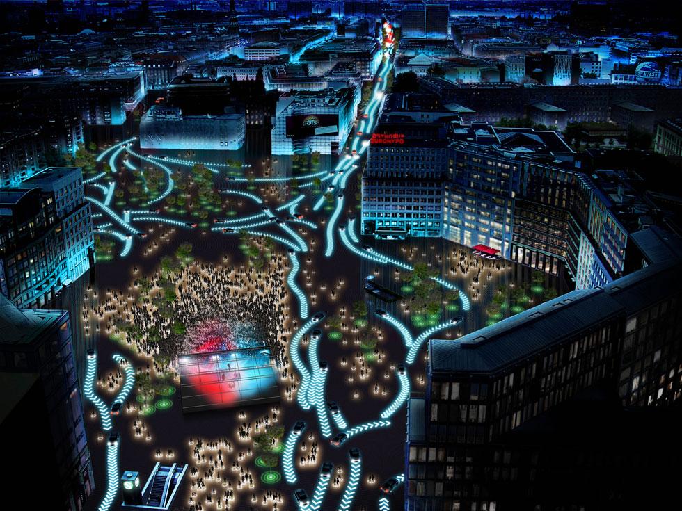 מכוניות אוטונומיות הן מלת הבאזז של התקופה. את הפרויקט של אאודי ומשרד האדריכלים הבינלאומי BIG כל ראש עירייה ישמח לאמץ. אבל רגע, מדרכות בטוחות כבר יש? (הדמיה: Bjarke Ingels Group)