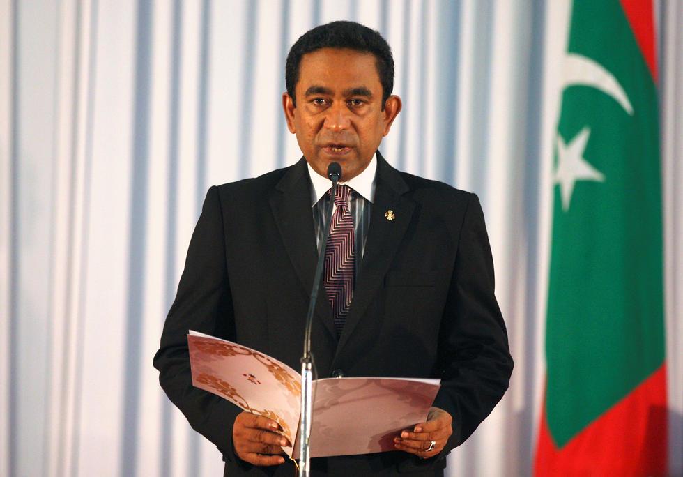 מאז עלה לשלטון ב-2013 פעל לדיכוי כל מחאה נגד השלטון. נשיא האיים המלדיביים עבדולה יאמין (צילום: רויטרס) (צילום: רויטרס)