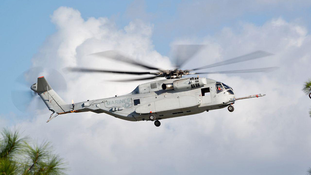 CH-53K King Stallion. 'The pilot can talk to the helicopter and plan the mission on a tablet before entering the cockpit'  (Photo: Sikorsky-Lockheed Martin)