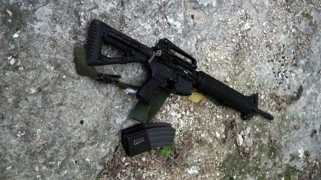M-16 assault rifle used by the terrorist (Photo: IDF Spokesman's Office)