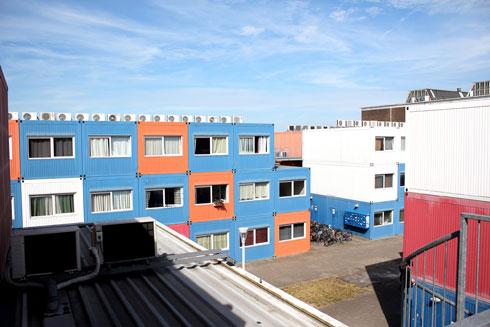אלף מכולות כדירות לסטודנטים באמסטרדם (צילום: Shutterstock)