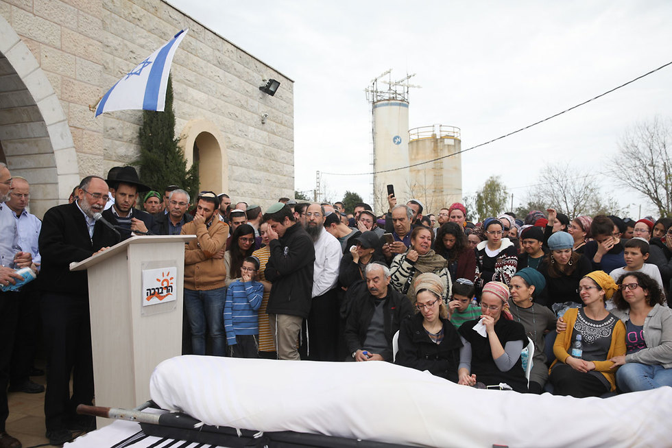 Rabbi Ben Gal's funeral. The pain is shared by an absolute majority of Israelis  (Photo: Ohad Zwigenberg)