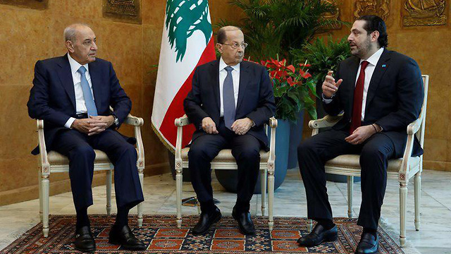 L-R: Nabih Berri, Michel Aoun and Saad Hariri (Photo: Reuters)