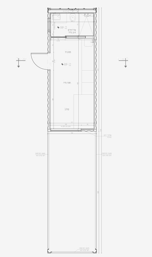 דירת חדר בחצי מכולה (תוכנית: איה גרייב, רחלי קאשי, אור שטרית)
