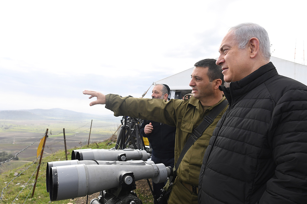 PM Netanyahu tours the north with the Political-Security Cabinet. A concerted effort to prevent an escalation  (Photo: Kobi Gideon/GPO)