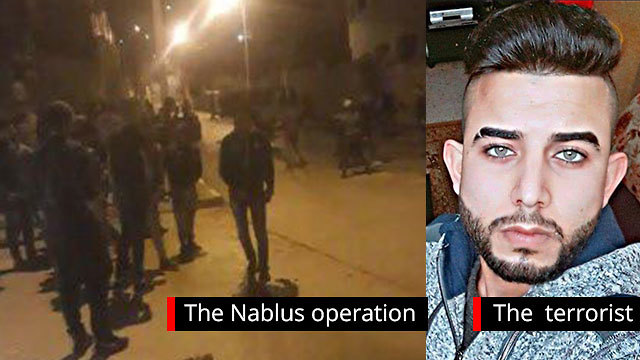 IDF forces are cornering a structure in Nablus