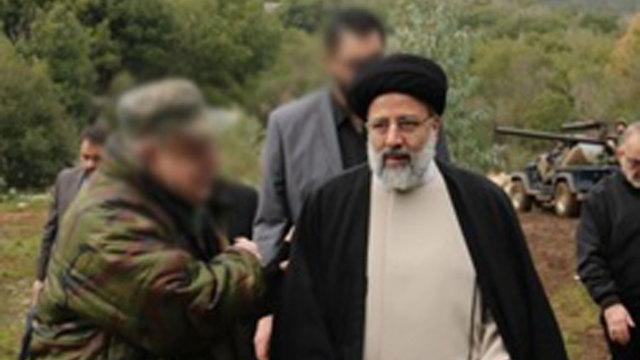 אייתוללה סייד אבראהים ראיסי בסיור בגבול לבנון ()