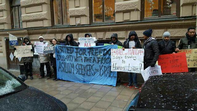 Protest in Stockholm