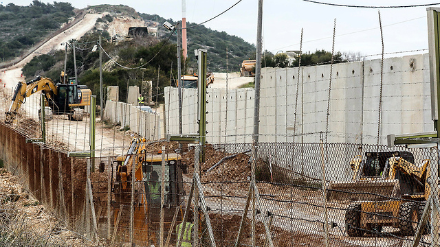 Israeli border wall in north (Photo: EPA)