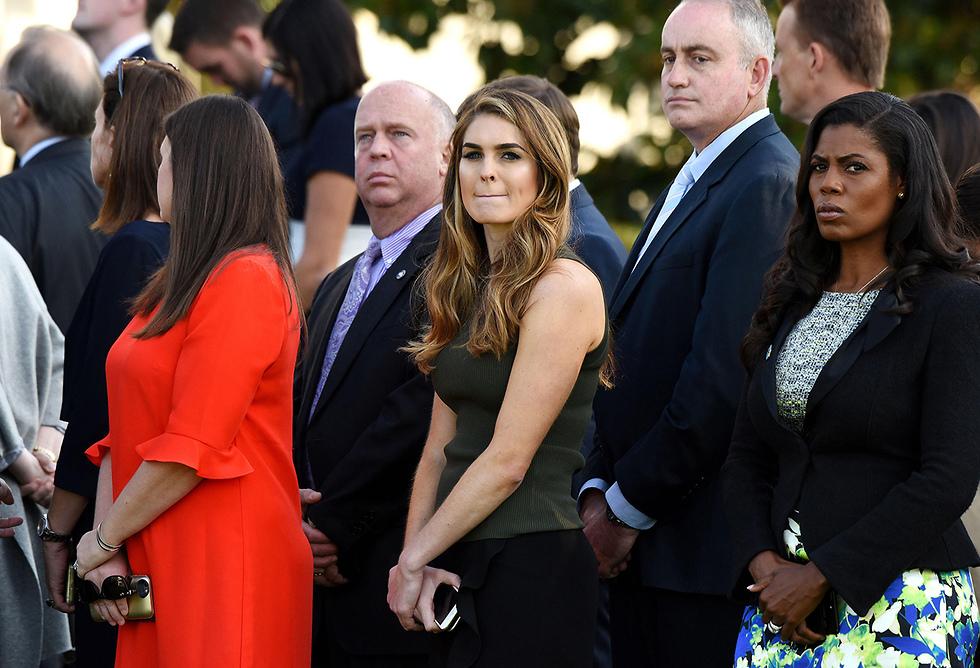 מנהלת התקשורת של הבית הלבן ניהלה זוגיות עם העוזר שהתעלל לכאורה בשתי נשותיו לשעבר. הופ היקס (צילום: MCT) (צילום: MCT)