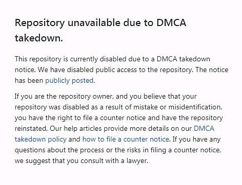 ההודעה באתר GitHub על הורדת הקוד (צילום מסך)