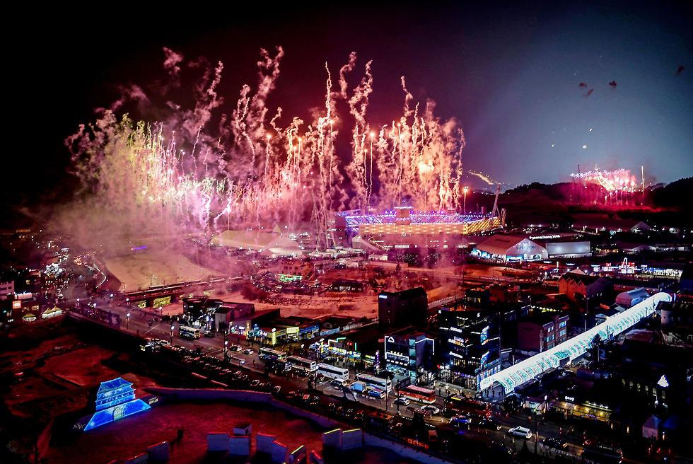 טקס פתיחת אולימפיאדת החורף (צילום: AFP)