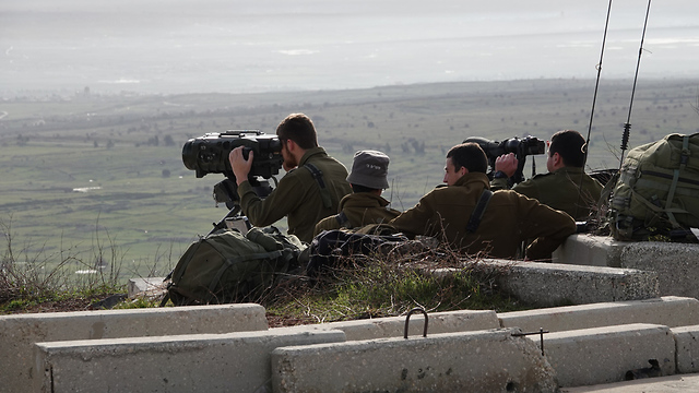 IDF observation position near the northern border (Photo: Effi Sharir)