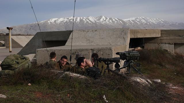 IDF forces in Golan (Photo: Effi Shrir)