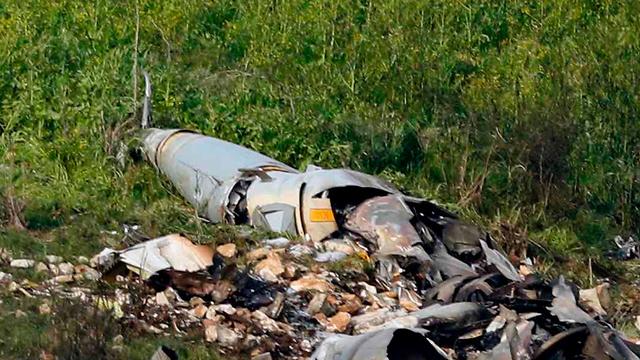 обломки сбитой сирийской ракеты в Израиле