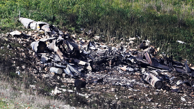 Debris of the crashed plane (Photo: Reuters)