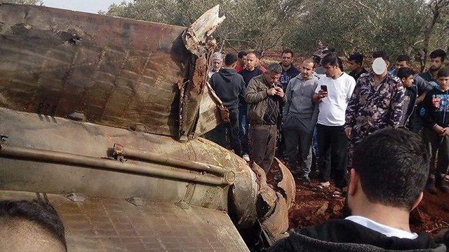 """גם בירדן נפלו חלקי טילי נ""""מ סוריים"""
