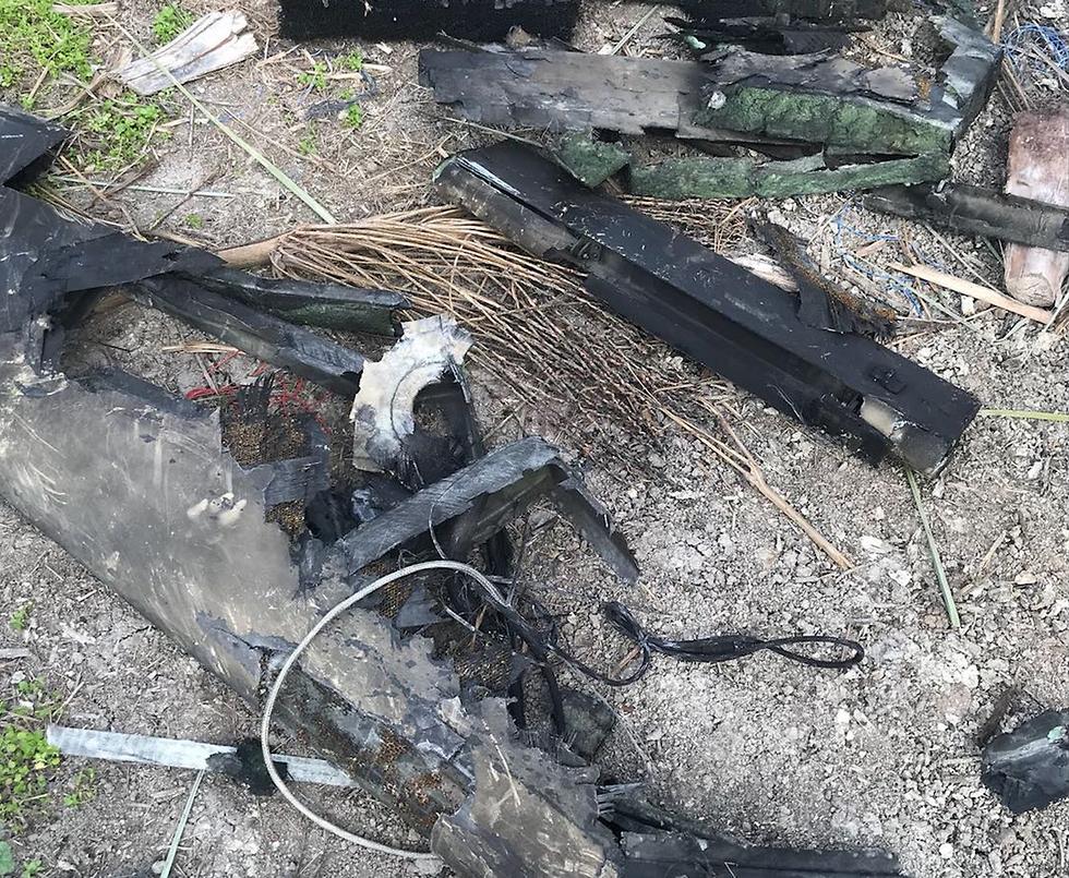 """שברי המל""""ט האיראני (צילום: דובר צה""""ל) (צילום: דובר צה"""