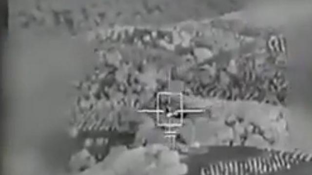 """השמדת קרון השליטה של המל""""ט האיראני (צילום: דובר צה""""ל) (צילום: דובר צה"""