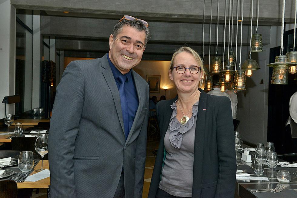 הלן לה גל ושמעון קיפניס (צילום: יואב אתיאל)