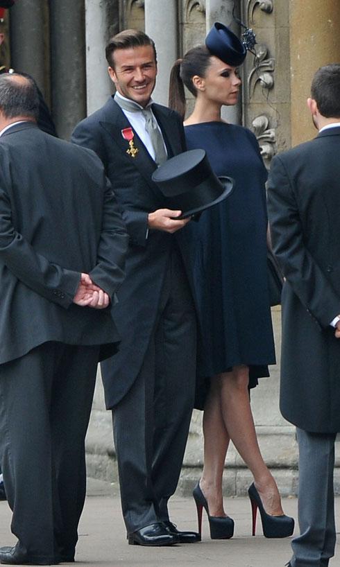 ויקטוריה ודיוויד בקהאם בחתונה של הנסיך וויליאם וקייט מידלטון (צילום: Gettyimages)