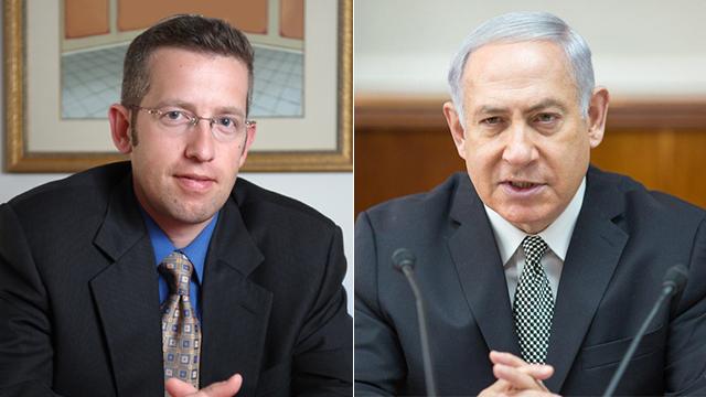 Fuchs (L) and PM Netanyahu (Photo: Amil Salman)