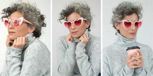 סוודר, 90 שקל, H&M. משקפי שמש, 246 שקל, פרייבט וינטג' קולקשן (צילום: עדו לביא, סטיילינג: תמי ארד־ברקאי)