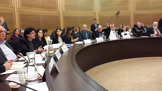 The Knesset's Welfare Committee debating the bill (Photo: Knesset Spokesmanship Office)